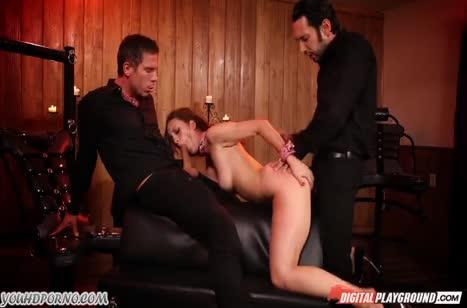 Джейд Найл в наручниках обслуживает двоих мужиков 5